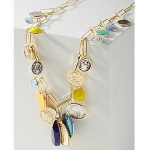 Anthropologie Bethany Coin Charm Necklace
